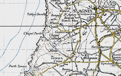 Old map of Goonvrea in 1946