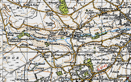 Old map of Todley Hill in 1947