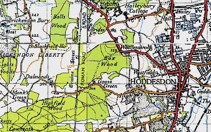Old map of Goose Green in 1946