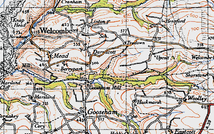 Old map of Gooseham Mill in 1946