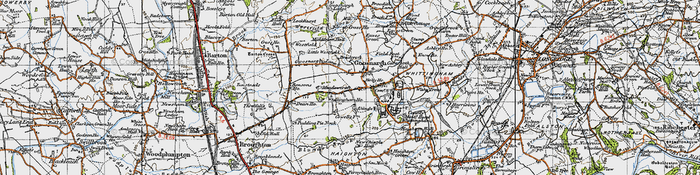 Old map of Westfield Brook in 1947