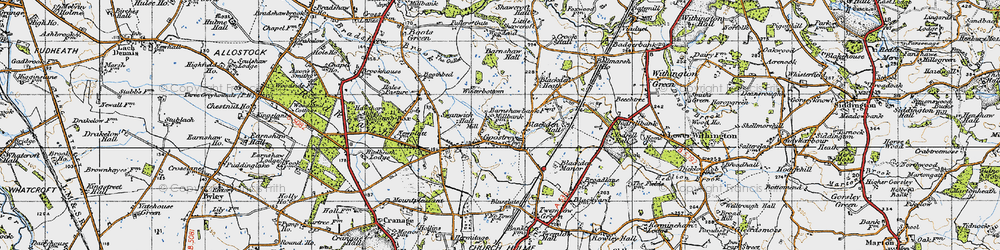 Old map of Goostrey in 1947