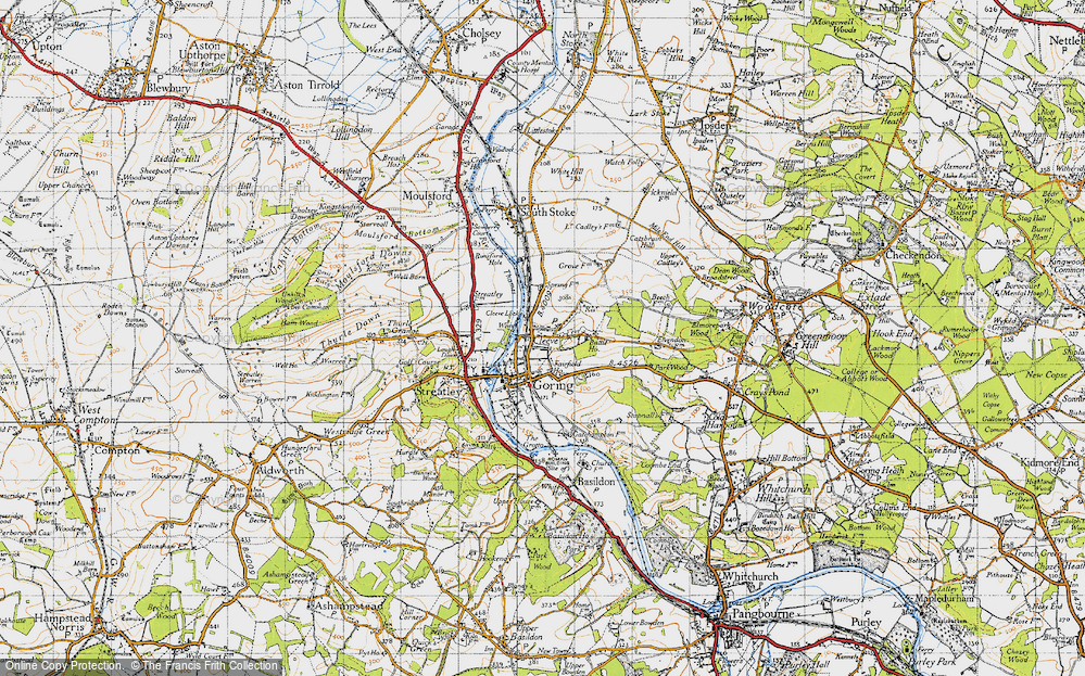 Old Map of Goring, 1947 in 1947