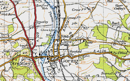 Old map of Goring in 1947