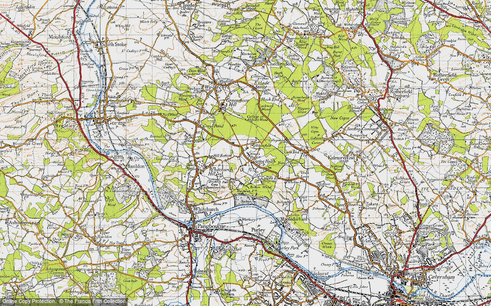 Old Map of Historic Map covering Almhouses, The in 1947