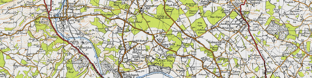 Old map of Almhouses, The in 1947