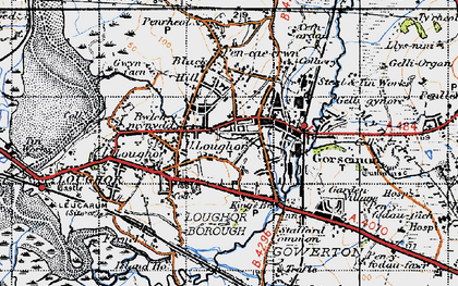 Old map of Gorseinon in 1947