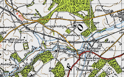 Old map of Lings, The in 1947
