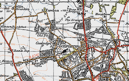 Old map of Gosforth in 1947