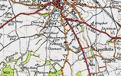 Old map of Gosmore in 1946