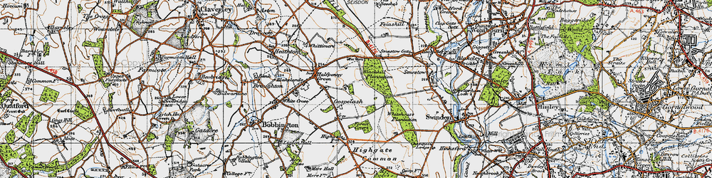 Old map of Whitehouse Plantation in 1946