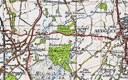 Old map of Wodehouse, The in 1946