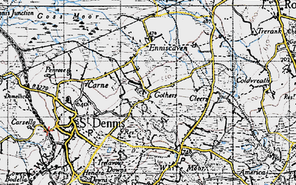 Old map of Gothers in 1946