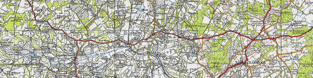 Old map of Lidwells Ho in 1940