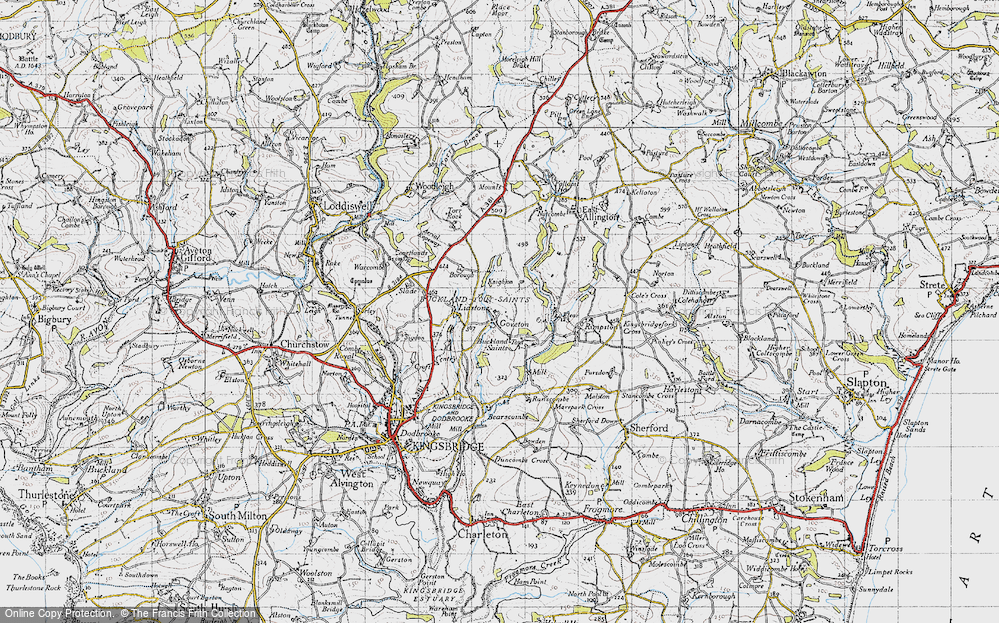 Old Map of Goveton, 1946 in 1946