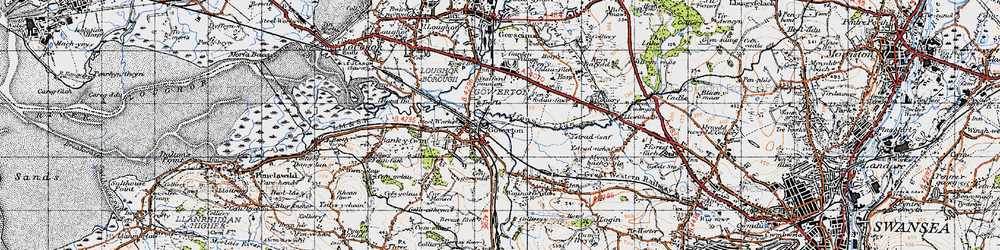 Old map of Gowerton in 1947