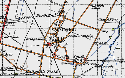 Old map of Goxhill in 1947