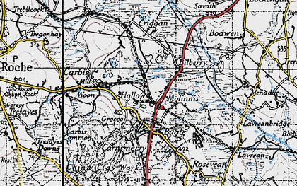 Old map of Gracca in 1946