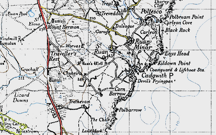 Old map of Grade in 1946
