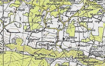 Old map of Graffham in 1940