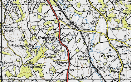 Old map of Wey-South Path in 1940