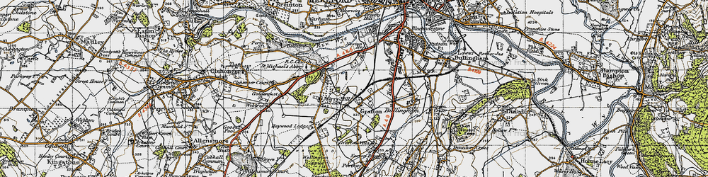Old map of Grafton in 1947