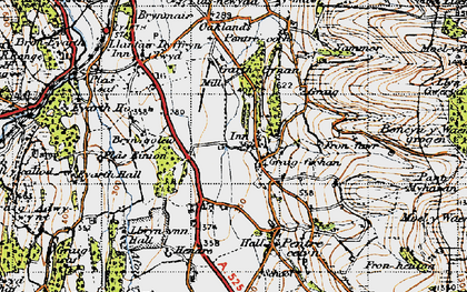 Old map of Pentre Côch in 1947