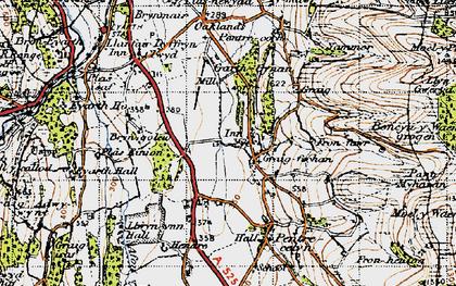 Old map of Graig-fechan in 1947