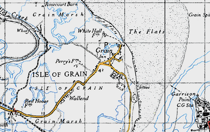 Old map of Lees Marshes in 1946