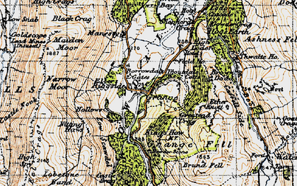 Old map of Ashness Br in 1947