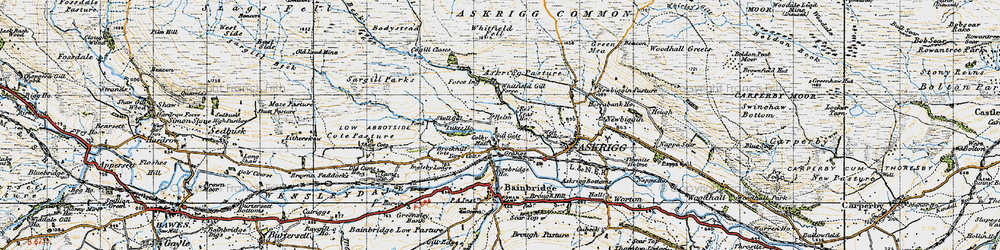 Old map of Whitfield Fell in 1947