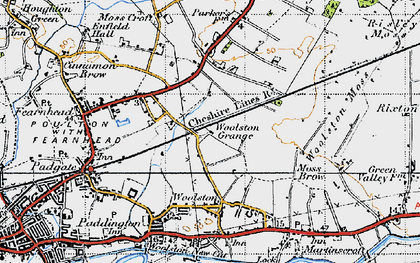 Old map of Grange in 1947