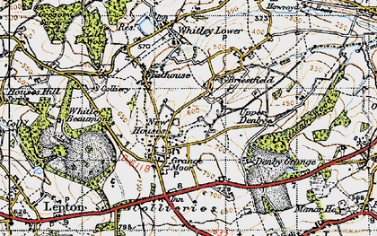 Old map of Whitley Park in 1947
