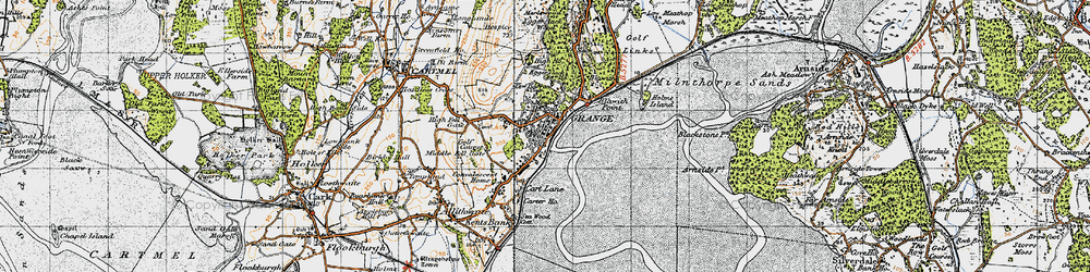 Old map of Grange-Over-Sands in 1947