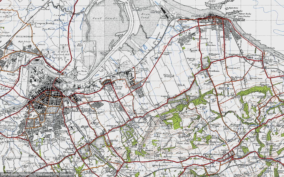 Old Map of Grangetown, 1947 in 1947