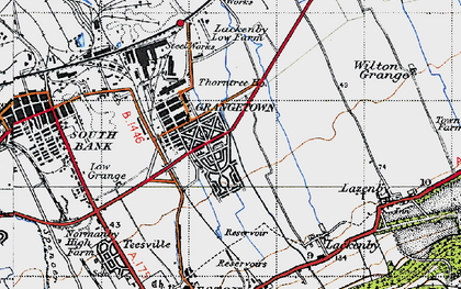 Old map of Grangetown in 1947