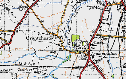 Old map of Grantchester in 1946