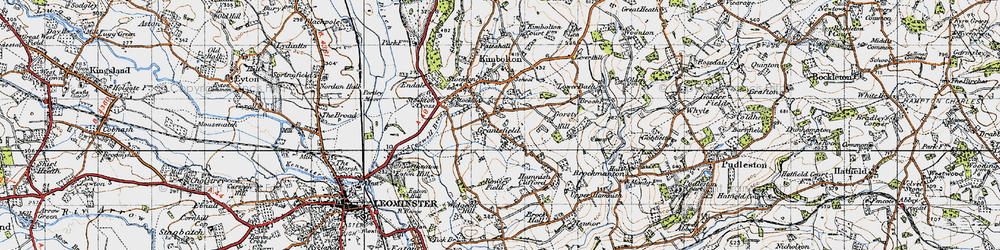 Old map of Widgeon Hill in 1947