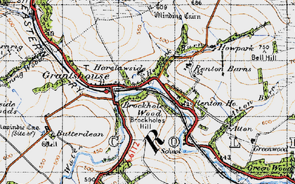 Old map of Winding Cairn in 1947
