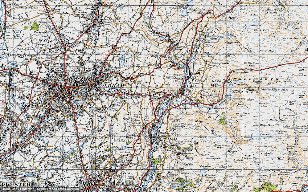 Old Map of Grasscroft, 1947 in 1947