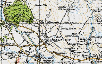 Old map of Grassington in 1947