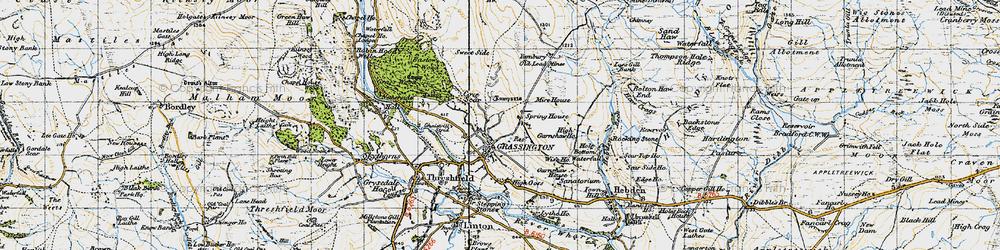 Old map of Yarnbury in 1947