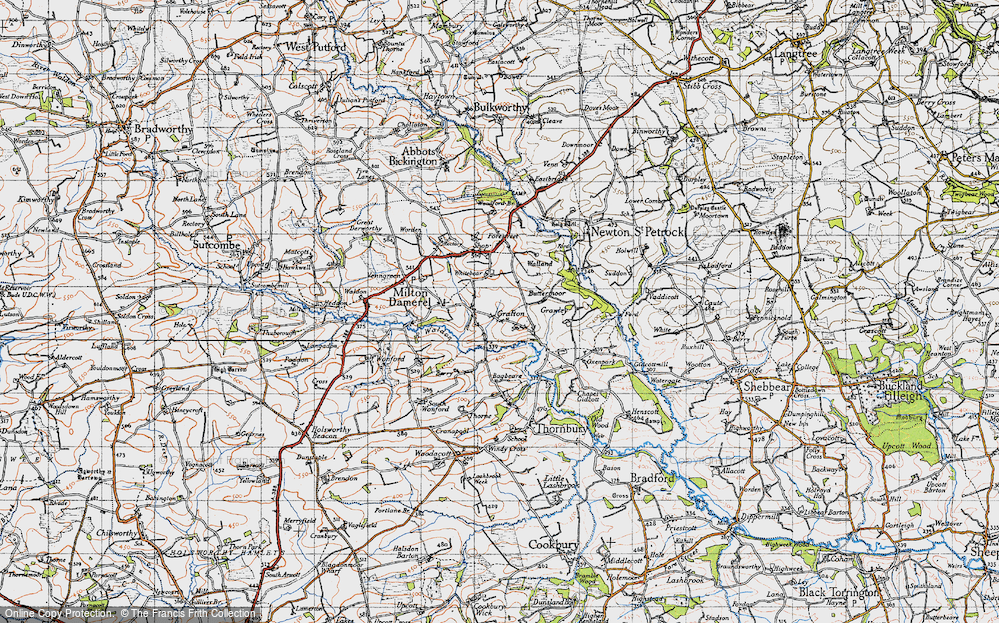 Old Map of Historic Map covering Bagbeare in 1946
