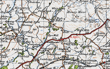 Old map of Whinfell Beacon in 1947