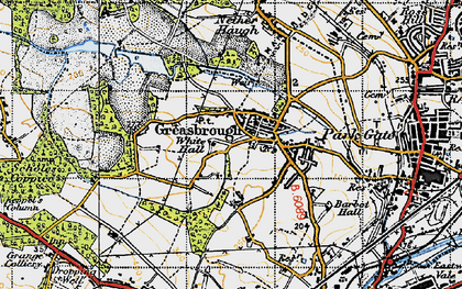 Old map of Greasbrough in 1947