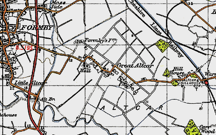 Old map of Withins, The in 1947