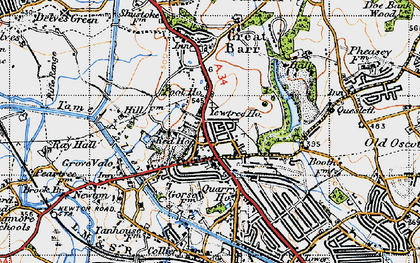 Old map of Great Barr in 1946