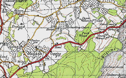 Old map of Wytherling Court in 1940