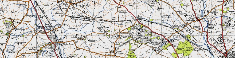 Old map of Althorp in 1946
