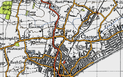 Old map of Great Clacton in 1946